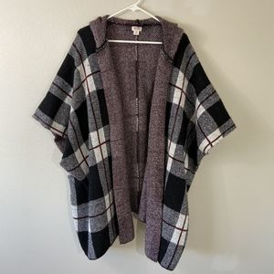 Mossimo Supply Co. Plaid Hooded Cardigan Small